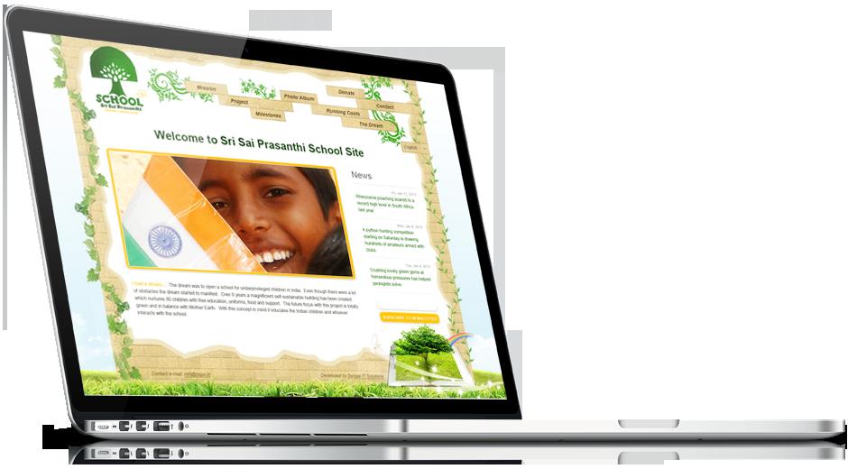 Разработка сайта под ключ на CMS Joomla для индийской школы Sri Sai Prasanthi School