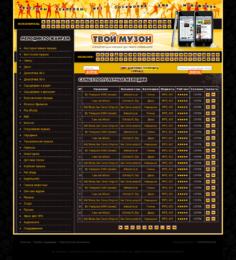 Разработка сайта под ключ на CMS Joomla каталога-коллекции музыки для мобильных телефонов Твой Музон