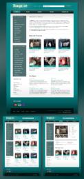 Дизайн логотипа и сайта плюс его HTML верстка для онлайн-магазина сумок Bagz