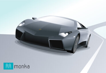 Векторная иллюстрация Lamborghini Reventon