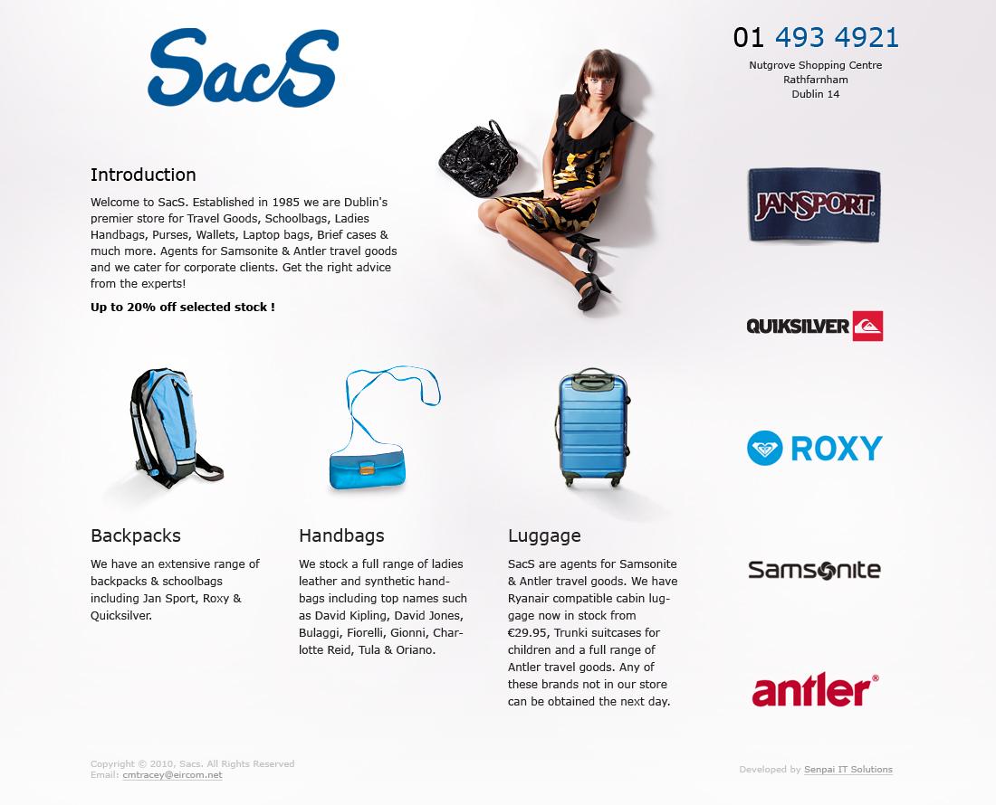 Дизайн сайта и его верстка для торгового центра Nutgrove Shopping Centre SacS