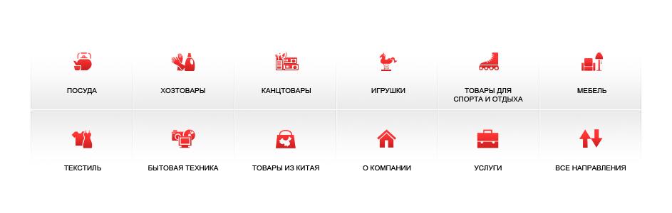 Разработка иконок меню для группы компаний SCS