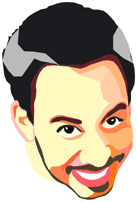 Векторная иллюстрация портрета певца Майк Шинода