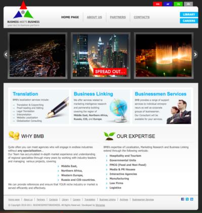 Joomla Тема для корпоративного бизнес сайта Business Meets Business